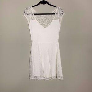 Hollister White Lace Mini Dress Medium